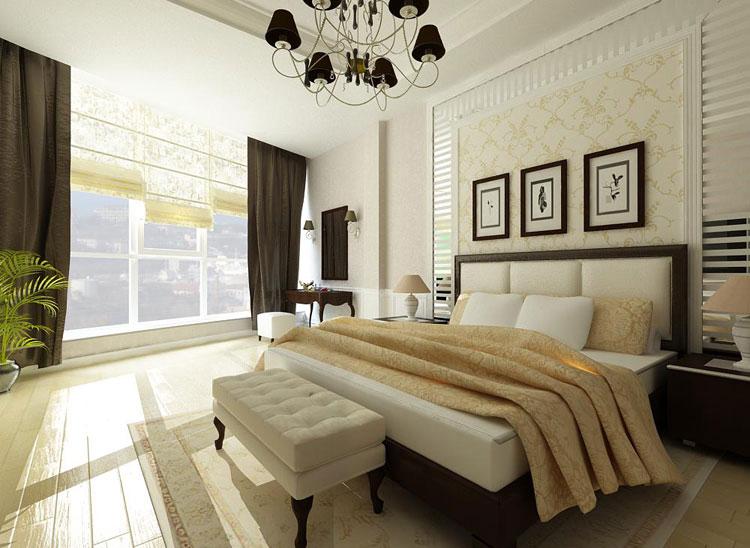 Классические интерьеры спальни