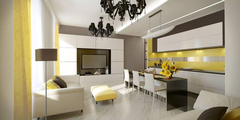 Дизайн кухни гостиной стиль современный