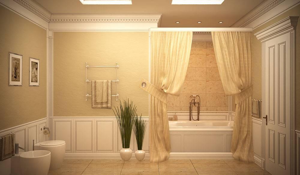Дизайн классический ванной комнаты