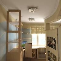 Дизайн однокомнатной квартиры для 4 человек