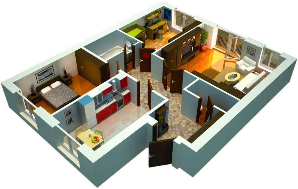 Как увеличить комнаты в трехкомнатной панельке без перепланировки