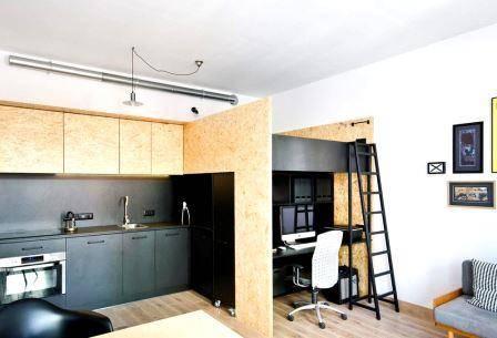 4 необычные идеи для квартиры-студии среднего размера