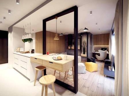 Дизайн проект квартиры студии 30 кв