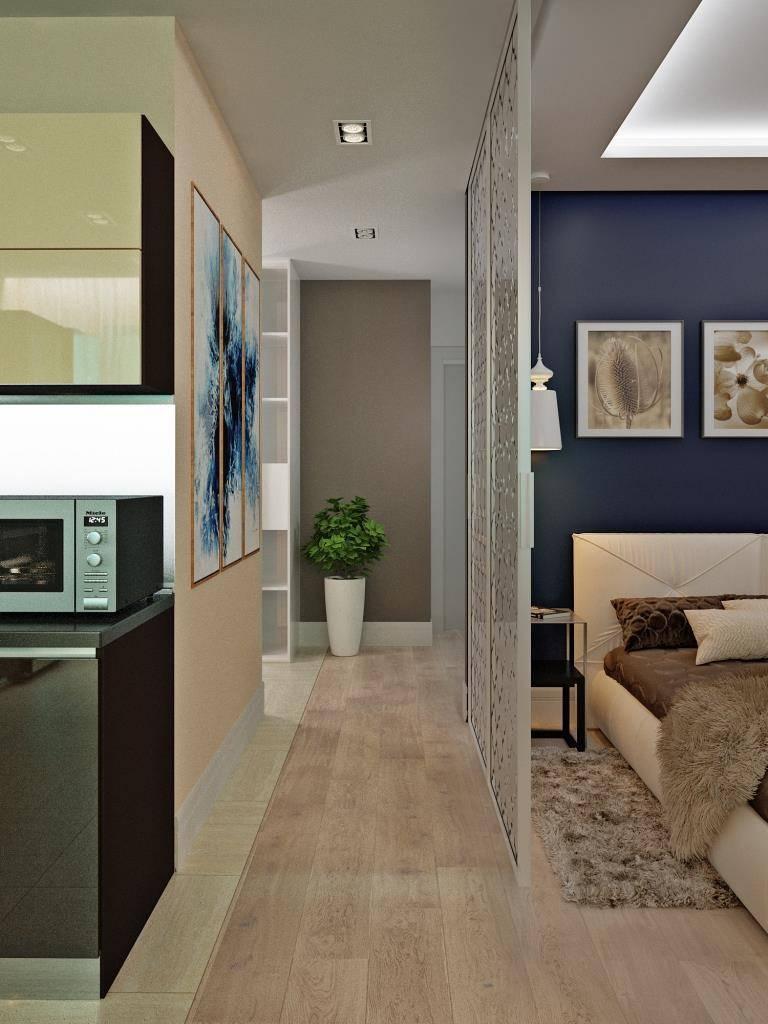 Дизайн коридора в прямоугольной студии