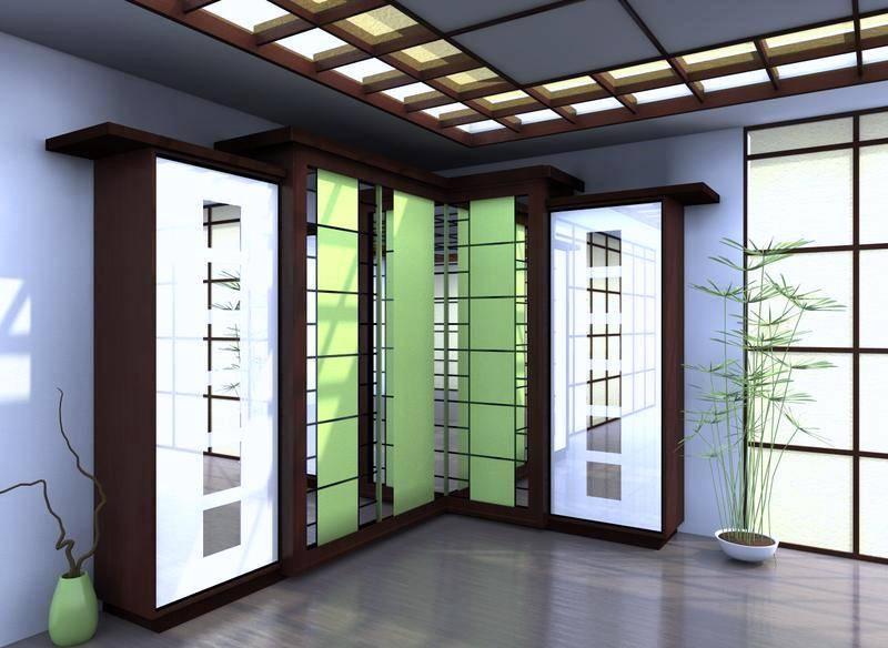 Шкаф в японском стиле в квартире студии 25 кв.м.