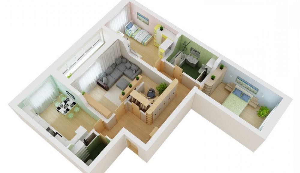 Трехкомнатная квартира в панельке