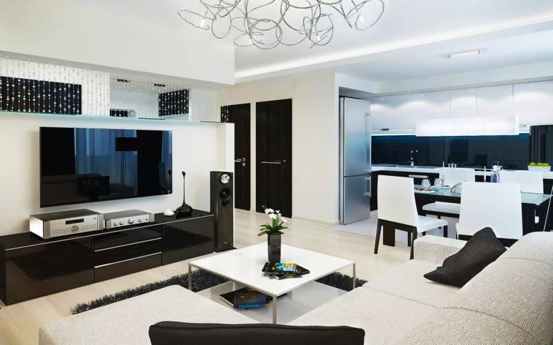 Дизайн трехкомнатной квартиры 80 кв