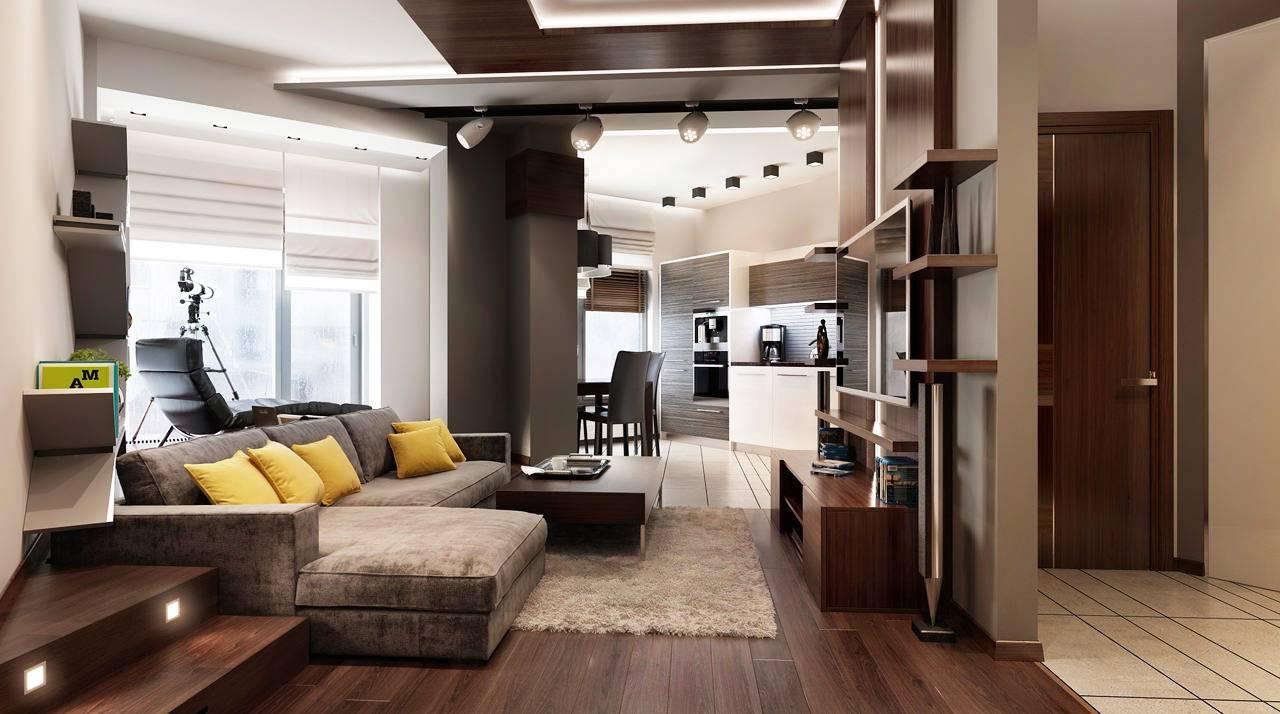Дизайн однокомнатной квартиры 45 м