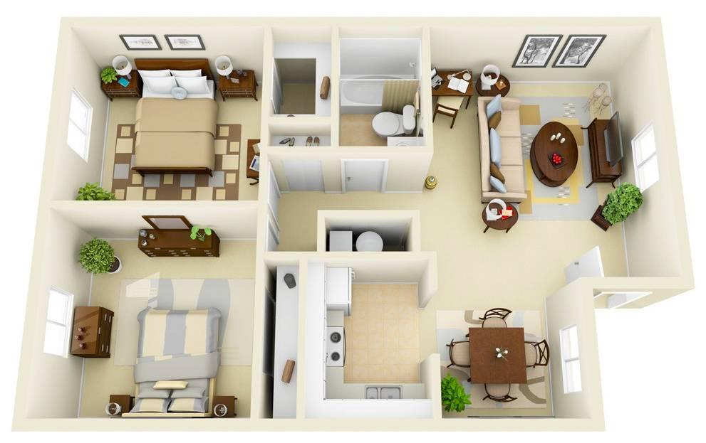 60 квадратных метров трехкомнатной квартиры: зонируем и оформляем пространство
